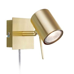 Markslöjd wandlamp Hyssna mat messing (LED)