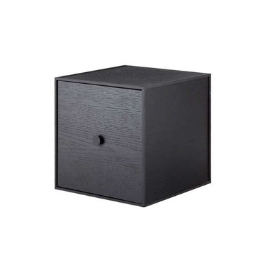 By Lassen Frame 28 kast met deur - black stained ash