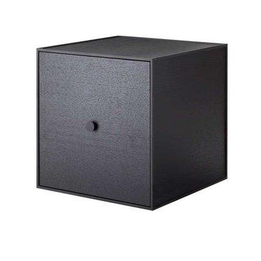 By Lassen Frame 35 kast met deur - black stained ash