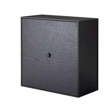 By Lassen Frame 42 kast met deur - black stained ash