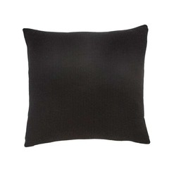 Hubsch knitted cotton pillow black