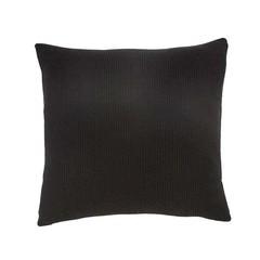 Hubsch knitted cotton pillow black