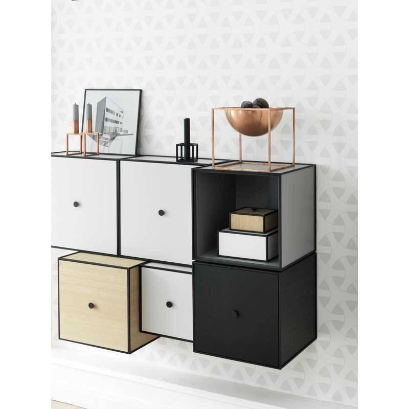 frame 35 kast met deur black stained ash nordic blends. Black Bedroom Furniture Sets. Home Design Ideas