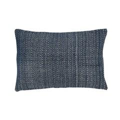 Hubsch cushion blue-white woven