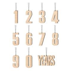 Felius hanger 0-9 Years 11-pack eiken