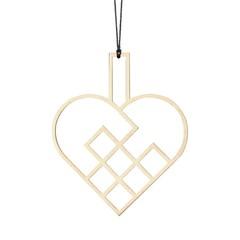 Felius hanger Hearts open - 2-pack eiken