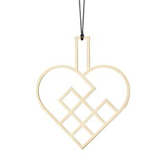 Felius hanger Hearts open - messing 2-pack