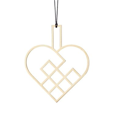 Felius hanger Hearts open - 2-pack messing