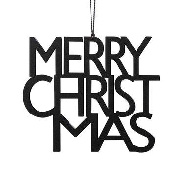 Felius hanger Merry Christmas 2-pack zwart
