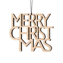 Felius hanger Merry Christmas 2-pack eiken