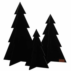 Felius Christmas Trees 3-pack zwart