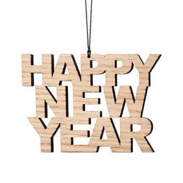 Felius hanger Happy New Year 2-pack eiken