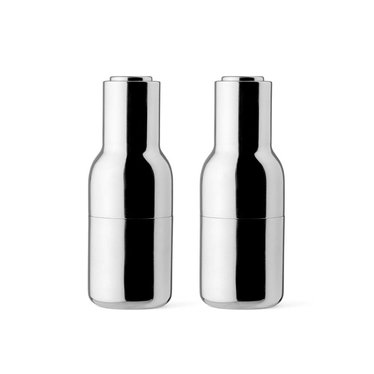 Menu peper- en zoutmolens Bottle Grinder - glanzend rvs, 2-pack