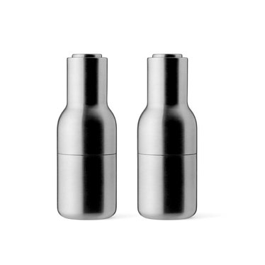 Menu peper- en zoutmolens Bottle Grinder - mat rvs, 2-pack