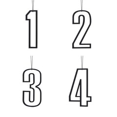 Felius hanger Merry Christmas 2-pack zwart - Copy
