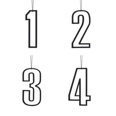 Felius hangers Advent 1-2-3-4 zwart