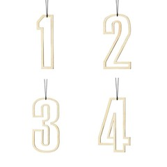 Felius hangers Advent 1-2-3-4 messing