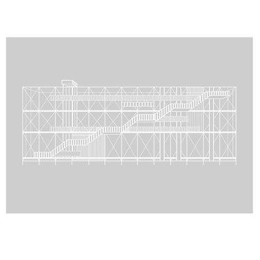 Kristina Dam poster Pompidou grijs-wit