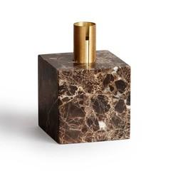 New Works candleholder Block - Dark Brown Marble