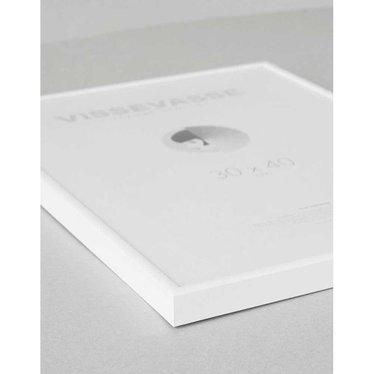 Vissevasse Wissellijst wit aluminium - plexiglas