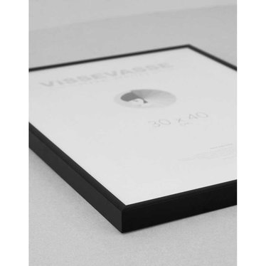 Vissevasse Wissellijst zwart aluminium - plexiglas