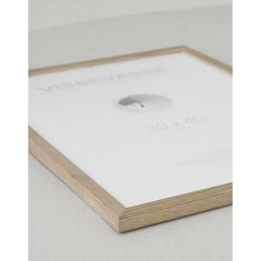 Vissevasse wissellijst naturel eikenhout - plexiglas