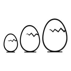 Felius Hatched Easter Egg zwart 3-pack