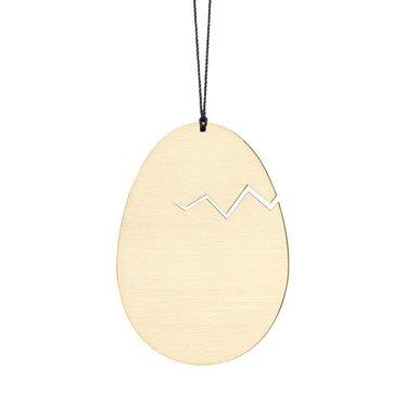Felius hanger Hatched Easter Egg messing 2-pack