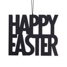 Felius hanger Happy Easter zwart 2-pack