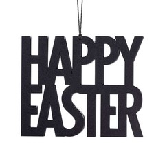 Felius hanger Happy Easter zwart 2-pack