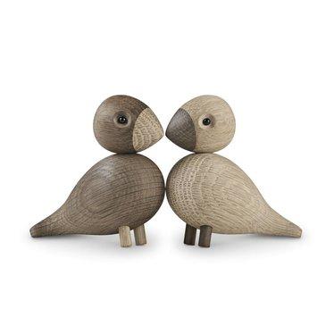 Kay Bojesen Houten vogels Lovebirds - light-dark