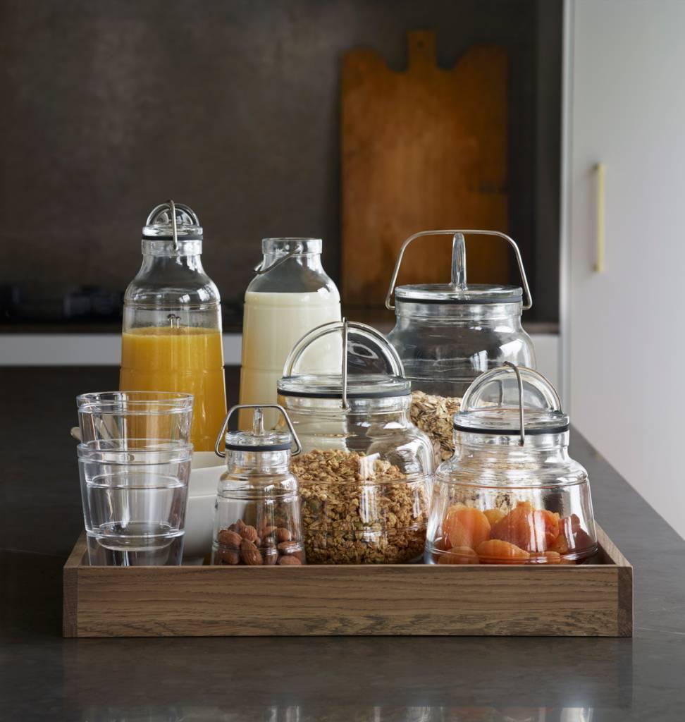 grote glazen voorraadpot top bodum yohki voorraadpot met kurken deksel l with grote glazen. Black Bedroom Furniture Sets. Home Design Ideas