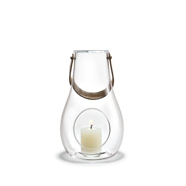 Holmegaard DWL lantern clear glass 25 cm