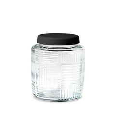 Rosendahl glass storage jar Nanna Ditzel 0,9 l black lid