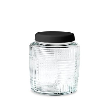 Rosendahl Glazen pot Nanna Ditzel 0,9 l zwart deksel