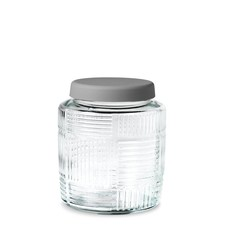 Rosendahl glass storage jar Nanna Ditzel 0,9 l grey lid