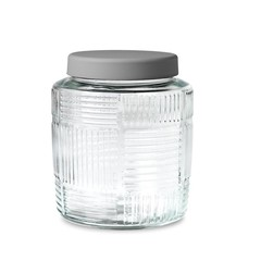 Rosendahl glazen pot Nanna Ditzel 2 l grijs deksel