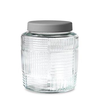 Rosendahl glass storage jar Nanna Ditzel 2 l grey lid