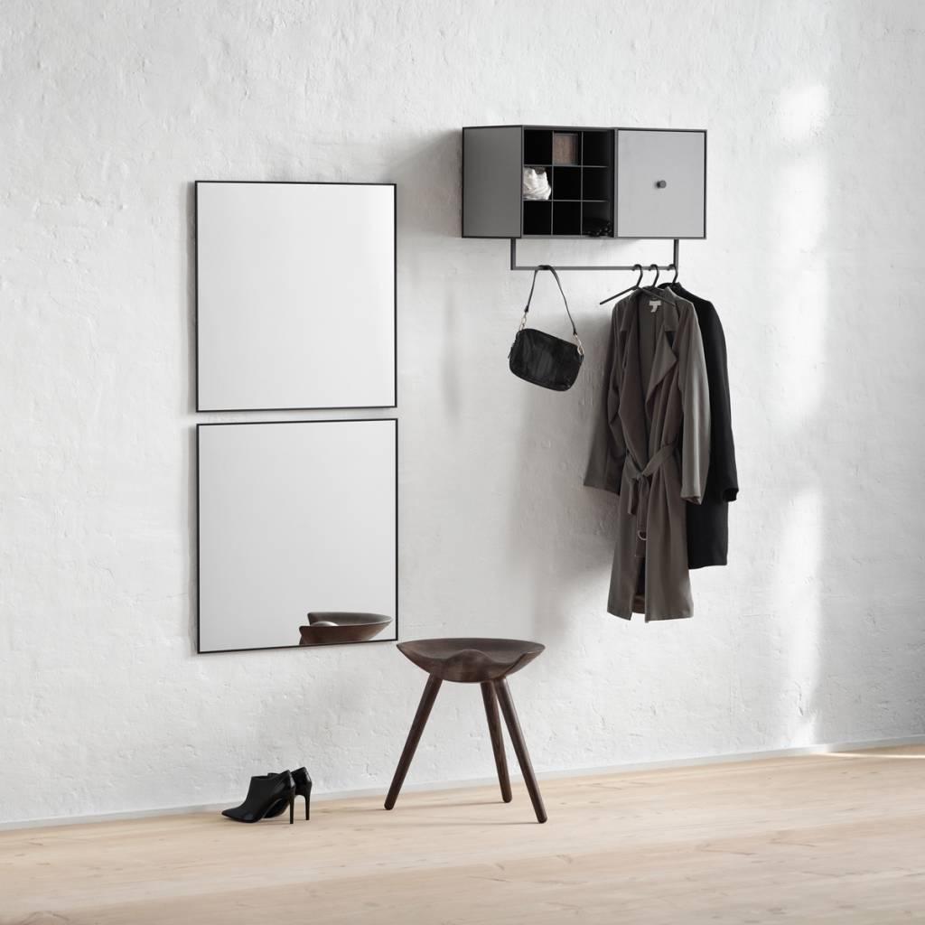 view spiegel 70x70 zwart nordic blends. Black Bedroom Furniture Sets. Home Design Ideas