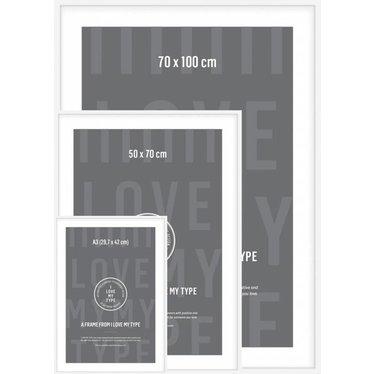 I Love My Type Photo frame white aluminum