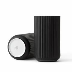 Lyngby Porcelaen porcelain vase - black (various sizes)