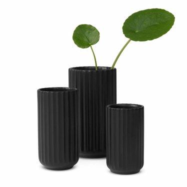 Lyngby Porcelaen Porcelain vase - Black