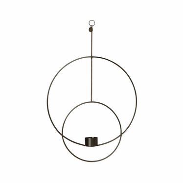 Ferm Living Hanging Tealight Deco - Circular - black