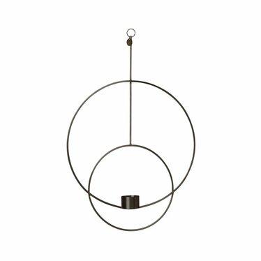 Ferm Living Hanging Tealight Deco - Circular -zwart