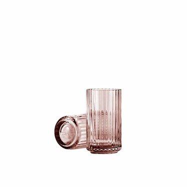 Lyngby Porcelaen Glazen vaas - Burgundy