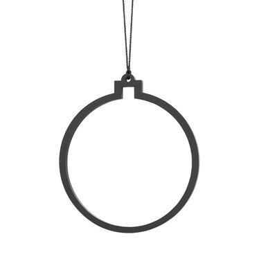 Felius Hanger Christmas Bauble line 2-pack zwart