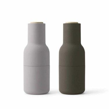Menu peper- en zoutmolens Bottle Grinder - Hunting Green-Beige, 2-pack