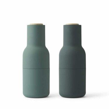 Menu peper- en zoutmolens Bottle Grinder - Dark Green, 2-pack
