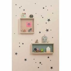 Ferm Living wall stickers Mini Stars star black