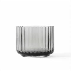 Lyngby Porcelaen theelichthouder glas - grey smoke
